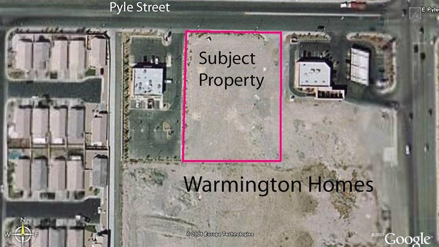 1.67 acres on Pyle, west of South Maryland Parkway