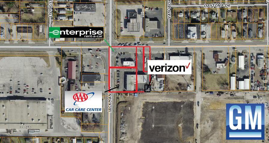 AAA Car Care, Enterprise & Verizon Cell Tower
